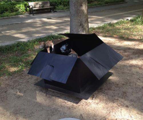 靭公園にて不思議なオブジェを発見!