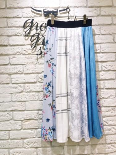 休館日のおしらせと春色スカートのご紹介